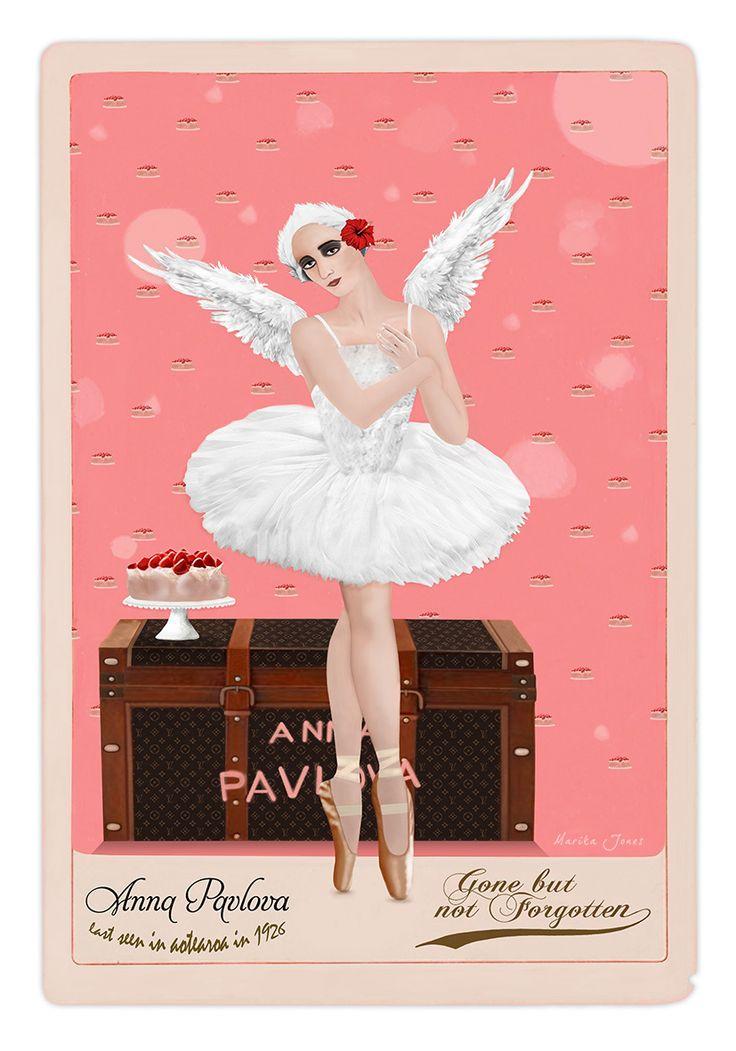 Anna Pavlova - Gone But Not Forgotten by Marika Jones. Available from www.imagevault.co.nz