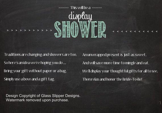 PRINTABLE display shower insert for bridal by PrettyPrintablesInk