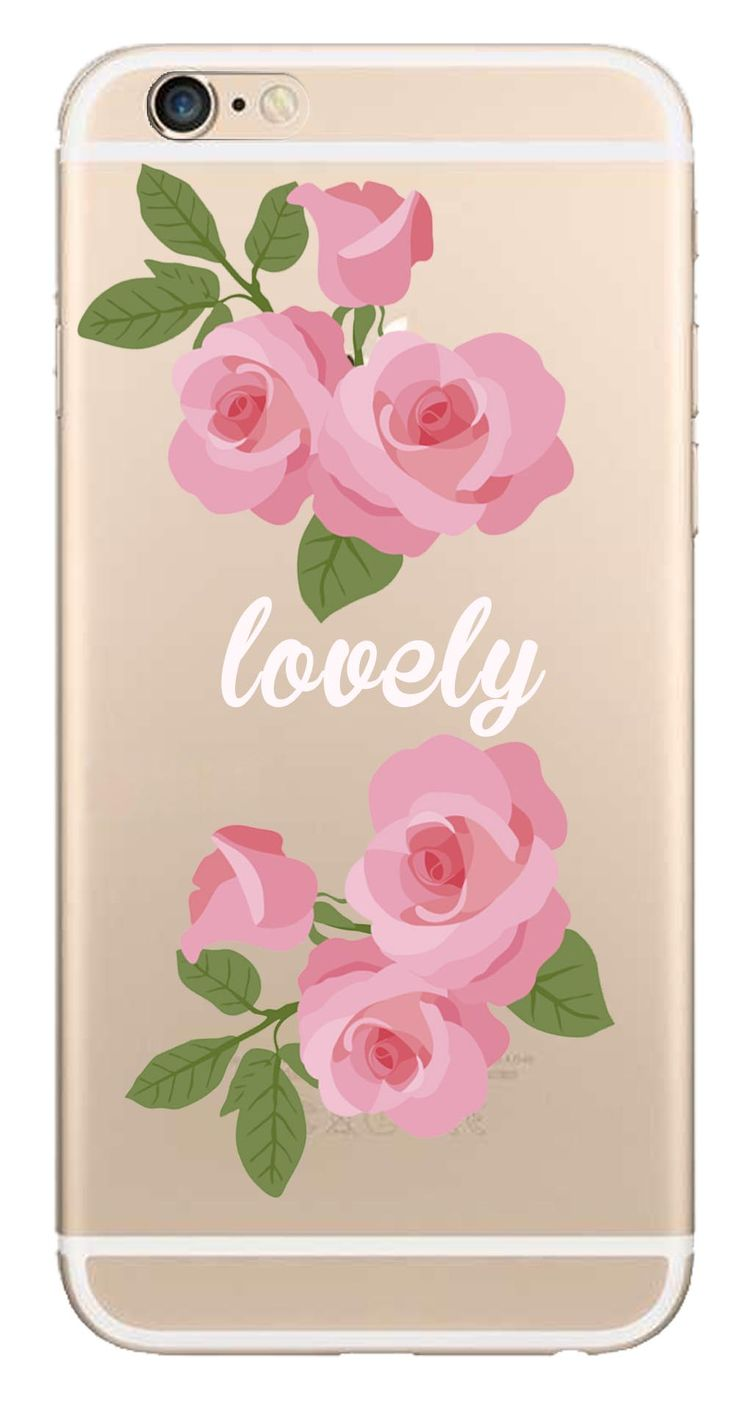 Whatskin DIY Style Color Drawing Flowers Series 11 Clear Back Cover for iphone 6