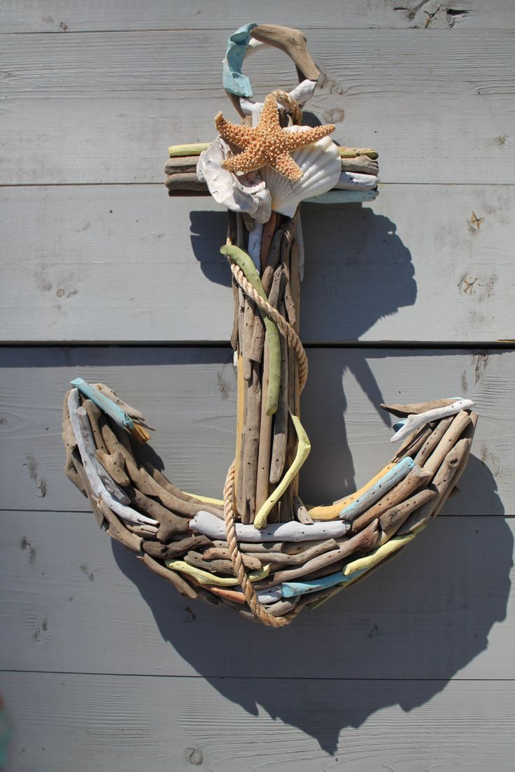 drift wood and seashell art - Google Search