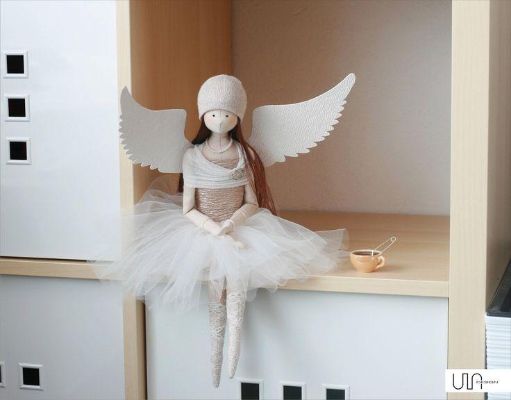 angel tilda handmade sewing anioł rękodzieło szycie