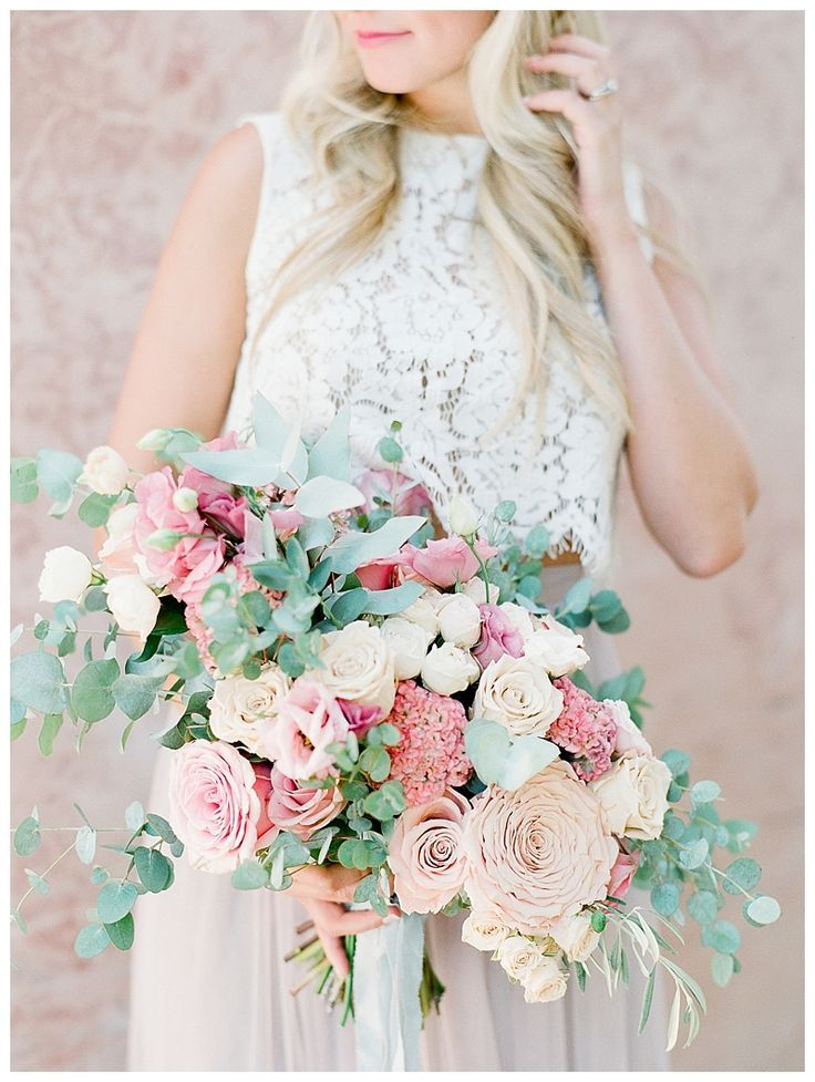 Lauren And Tim Neutral Wedding Flowers Blue Wedding Flowers