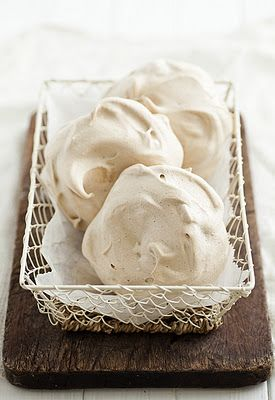 Chocolate Meringues with Raspberries and Caramel Sauce