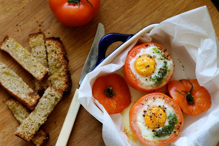 Tomato, Pesto and Goats Cheese Baked Egg – The Holistic Ingredient
