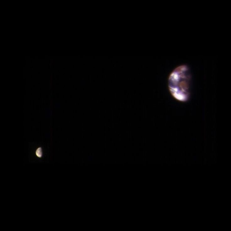Your Home Planet, as Seen From Mars! From the most powerful telescope orbiting Mars comes a new view of Earth and its moon, showing continent-size detail on the planet and the relative size of the moon. The image combines two separate exposures taken on Nov. 20, 2016, by the High Resolution Imaging Science Experiment (HiRISE) camera on our Mars Reconnaissance Orbiter. The images were taken to calibrate HiRISE data, since the reflectance of the moon's Earth-facing side is well known. For…