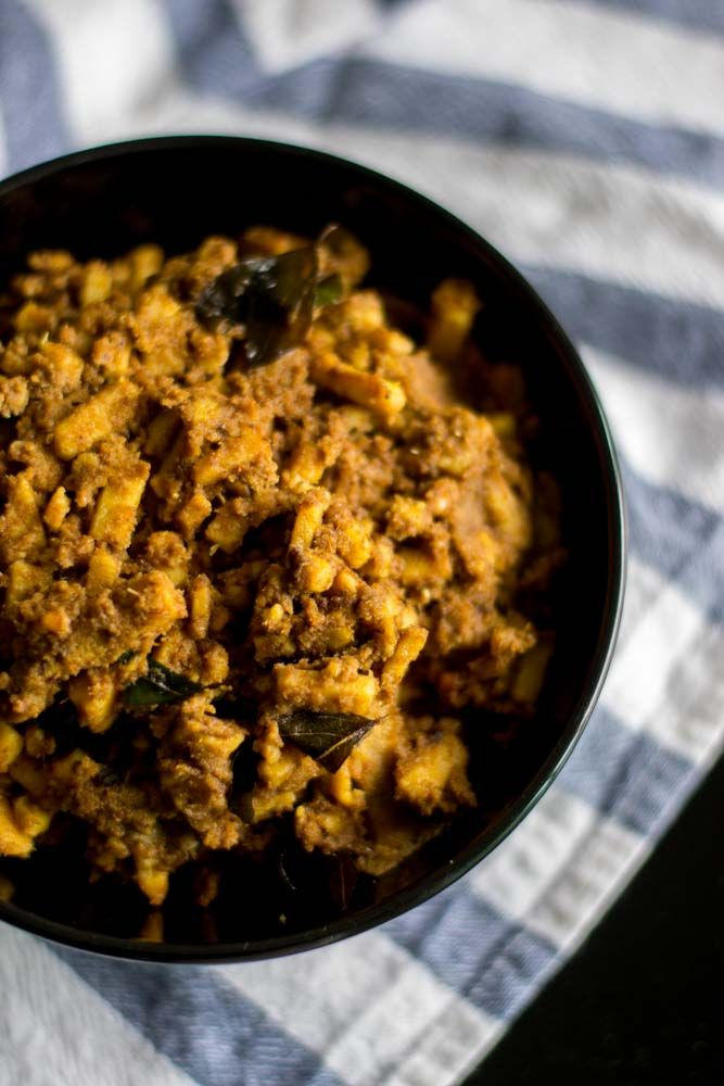 Recipe for kongunad style Senai Kilangu Masala / Elephant foot yam Masala flavored with subtle spices and coconut. This dish is usually served with rice.