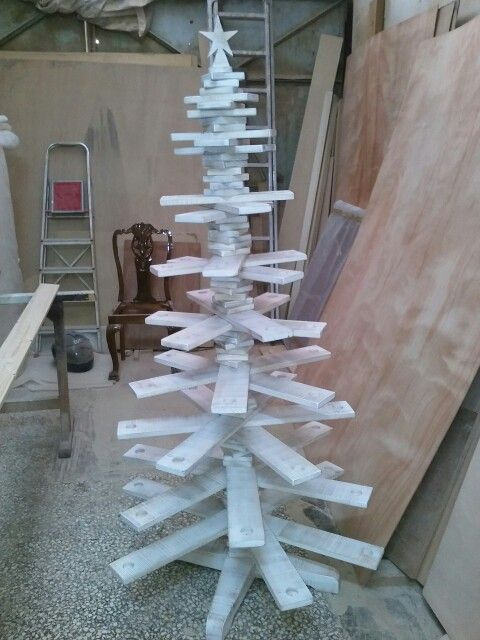 Rustic christmass tree by Beaver Home furniture.