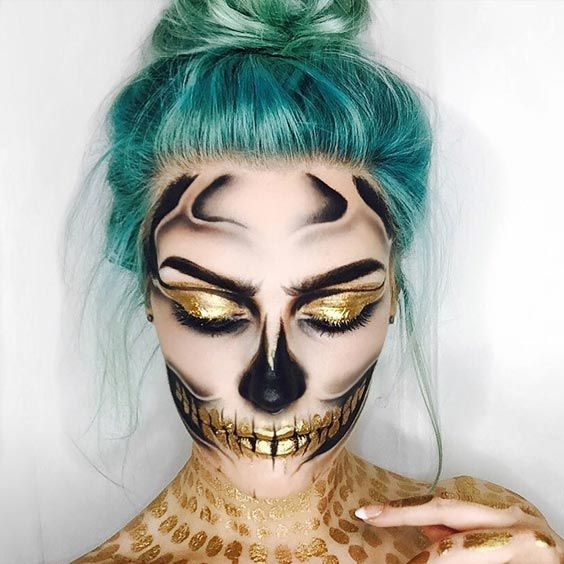 Beautiful How To Put Halloween Makeup On Pictures ...