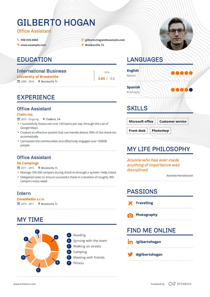 Office assistant resume example and guide for 2019