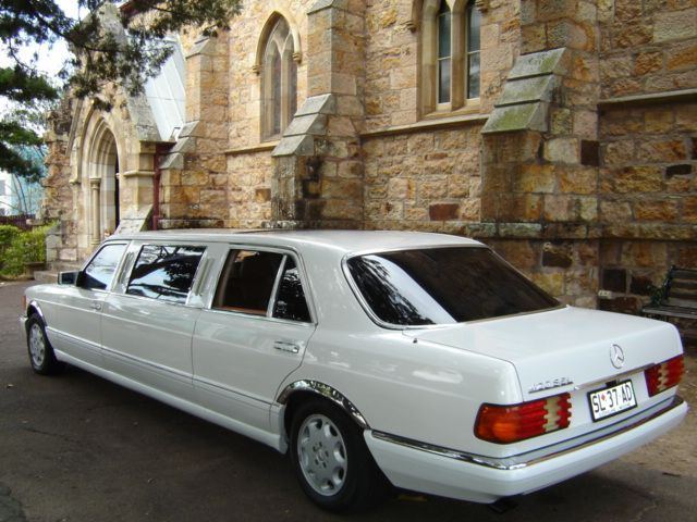 Classic Mercedes 7 Seat Stretch Limousine Wedding Car #WeddingCarsBrisbane #BrisbaneClassicCarHire www.premier-limos.com.au