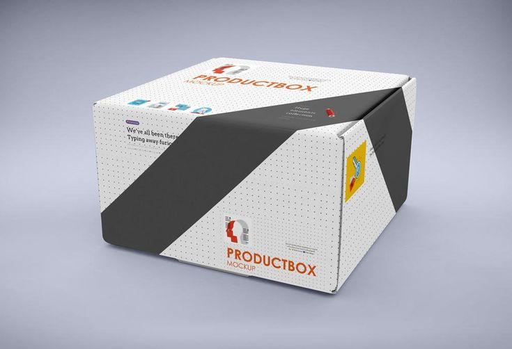 Download Big Carton Box Mockup | MockupWorld (With images) | Box ...