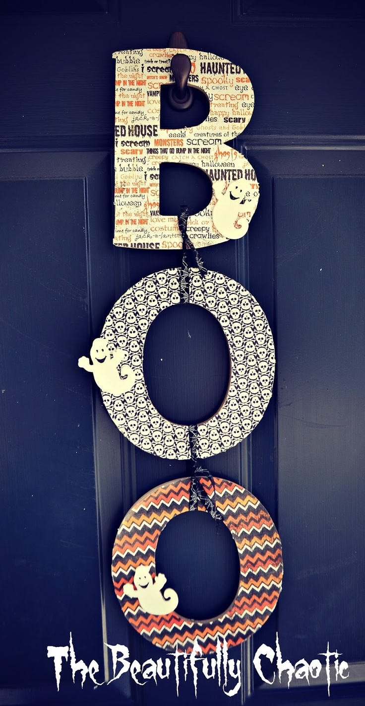 I love the look I these letters...maybe spelling home? Instead of Boo so I cld use it all the time!