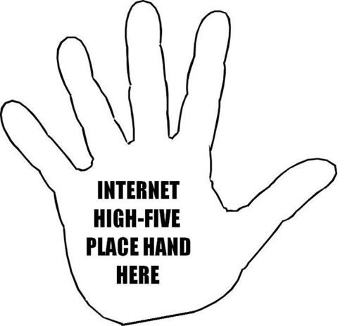 here is a quick internet high five :-) #socialmedia #santiago #inboundmarketing