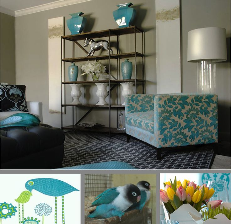 Turquoise In Bedroom And Living Room With Accessories Decors Art Decorating Ideas Painting
