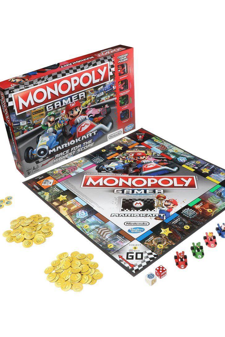 Grab Your Family Hasbro S Releasing A Mario Kart Themed Monopoly Racing Game Mario Kart Monopoly Mario Kart Games