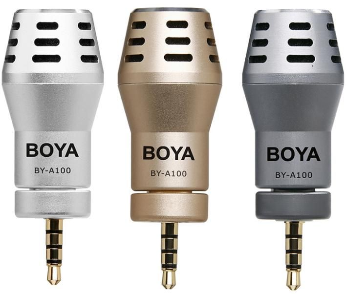 BY-A100 Omni-directional microphone The BOYA BY-A100 is an Omni-directional microphone special designed for iPhone / iPad / iPod touch.