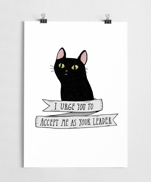 Salem Cat Art print by Scandinavian designer A Grape Design - Nordic Design Collective