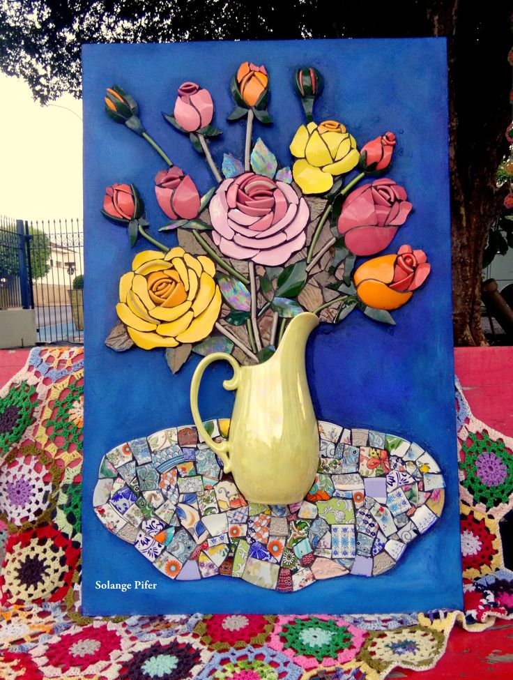 1411 Best Images About Mosaic Flowers Amp Trees On Pinterest