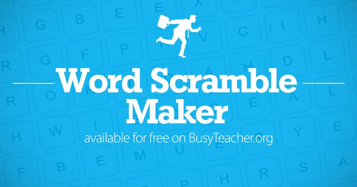 Create your own word scramble puzzles with our free word scramble generator. Instantly create printable word scrambles for your class. Click here to start!