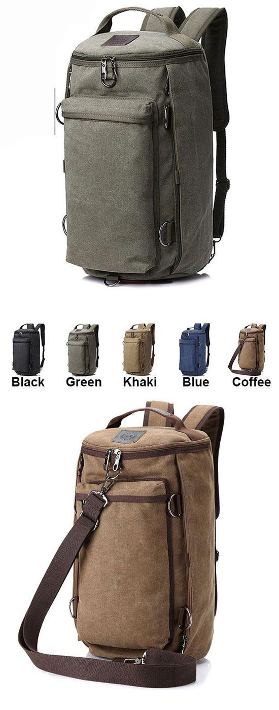 Which color do you like? Retro Camping Backpack Large Bucket Travel Outdoor Rucksack Multifunction Gym Shoulder Bag Canvas backpack #backpack #school #shoulder #canvas #bag #gym #fashion #travel