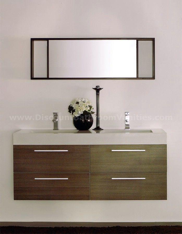 Pierro Modern Double Sink Bathroom Vanity PEO 55