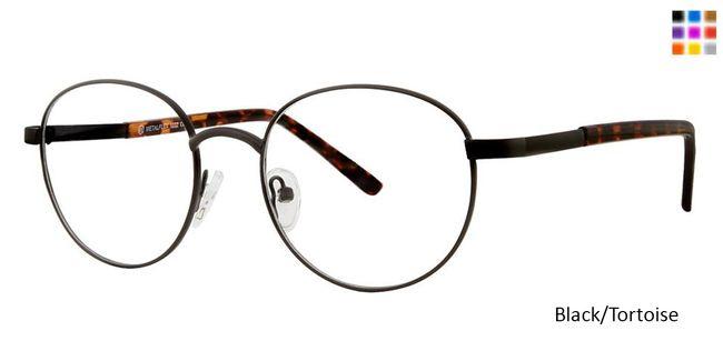 87fe6a7792a Black Tortoise Vivid Metalflex 1032 Eyeglasses.