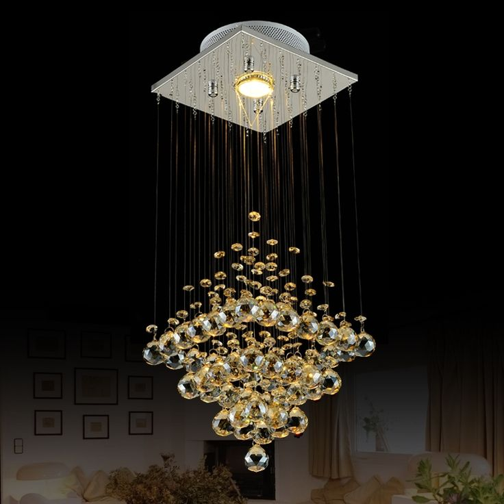 108.80$  Buy here - http://aliihs.worldwells.pw/go.php?t=1000001484399 - T Best Price Modern Lustre Rectangular Crystal Chandeliers For Dining-room Pandent Lamp With LED Bulbs For Entrance Aisle