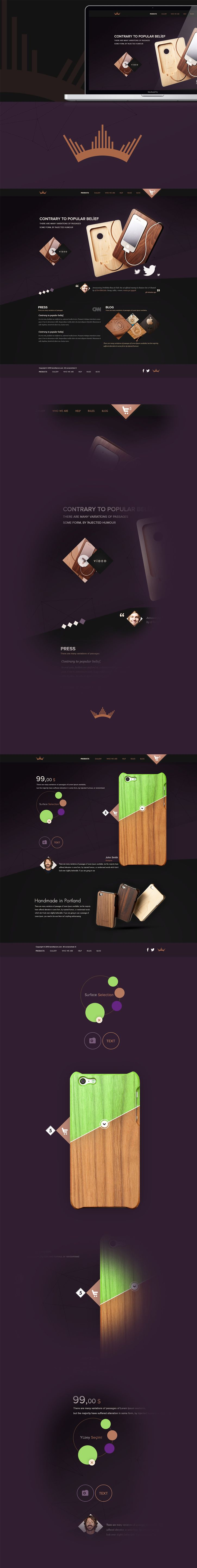 Wood via @Behance http://www.behance.net/gallery/Wood/9455875?utm_source=Triggermail_medium=email_campaign=Net%20Project%20Published