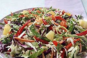 Crisp Confetti Salad recipe:  This is really good (use cashews instead of peanuts).