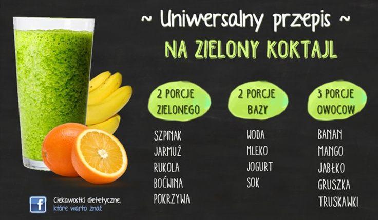 Uniwersalny przepis na zielony koktajl
