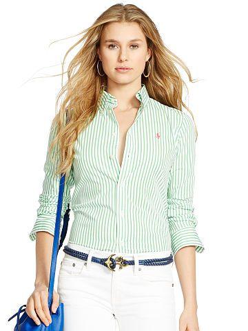 Polo Ralph Lauren Custom-Fit Striped Shirt - Polo Ralph Lauren Long Sleeve  - Ralph