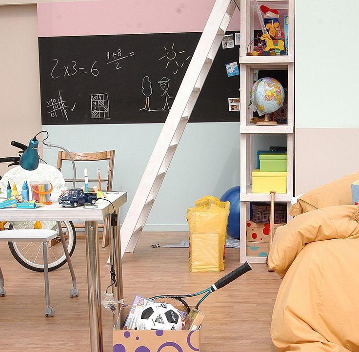 Schoolbordverf in de kinderkamer