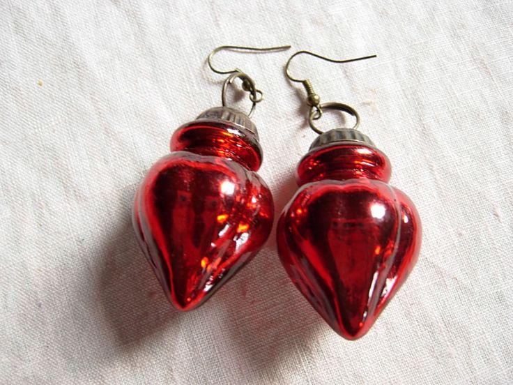 Ohrringe - CoSi's Ohrringe Weihnachtsschmuck originell rot - ein Designerstück von aludroc62 bei DaWanda