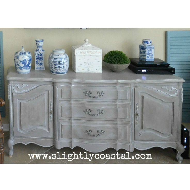diy furniture refinishing projects. Weathered French Buffet Makeover With Chalk Paint - By Slightly Coastal · Furniture RefinishingFurniture ProjectsDiy Diy Refinishing Projects E