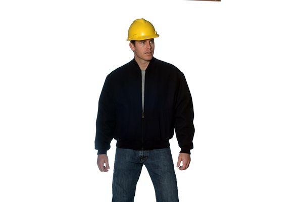 Huski Hi Visibility Jacket All Over Wool Blend Bomber Mens Workwear Black New