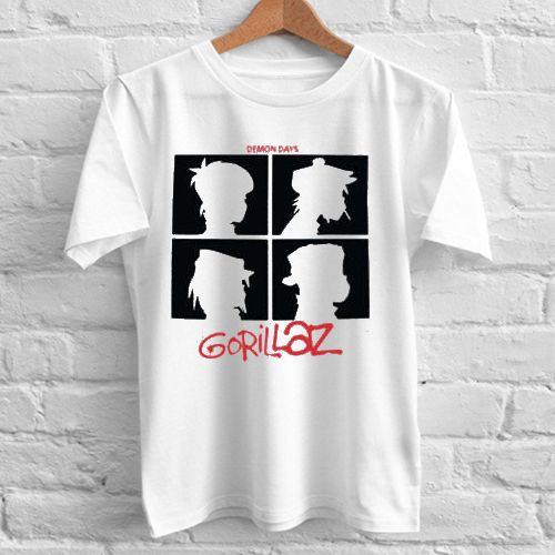 Gorillaz Demon Days tshirt gift adult unisex custom clothing Size S-3XL