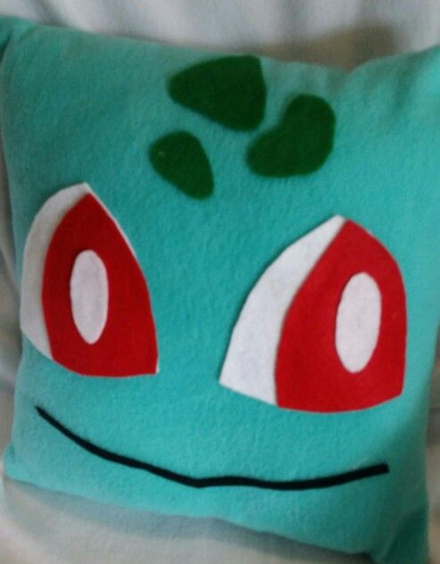 Bulbasaur pokemon throw pillow