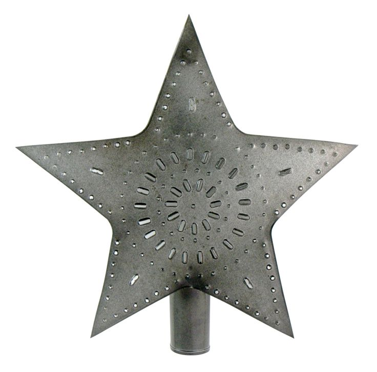 From ornaments to garlands, punched-tin pieces are galvanizing to become this season's hottest holiday trend. Made of antiqued sheet metal, this nearly 10-inch star scores tons of style points.