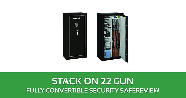Stack-On SS-22-MB-E 22 Gun Fully Convertible Security Safe with Electronic Lock, Matte Black