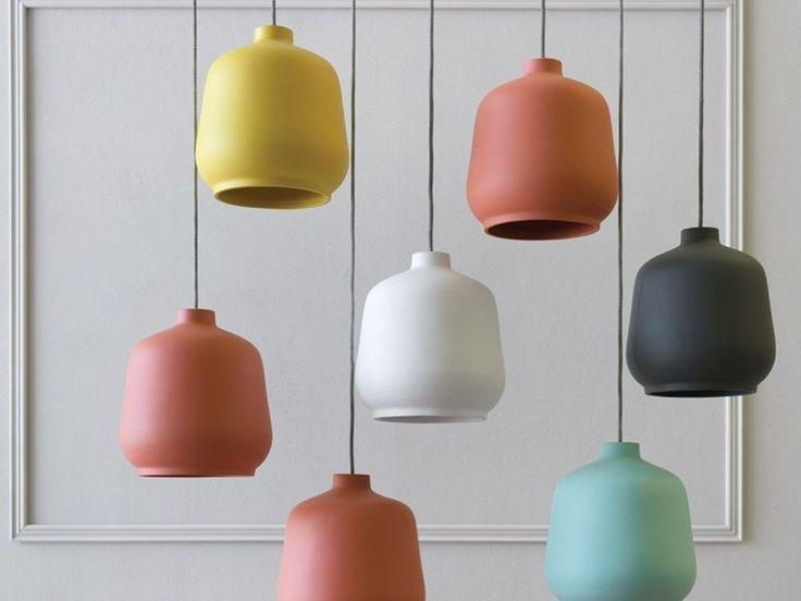 Lampada a sospensione in ceramica KIKI by Miniforms design Paolo Cappello