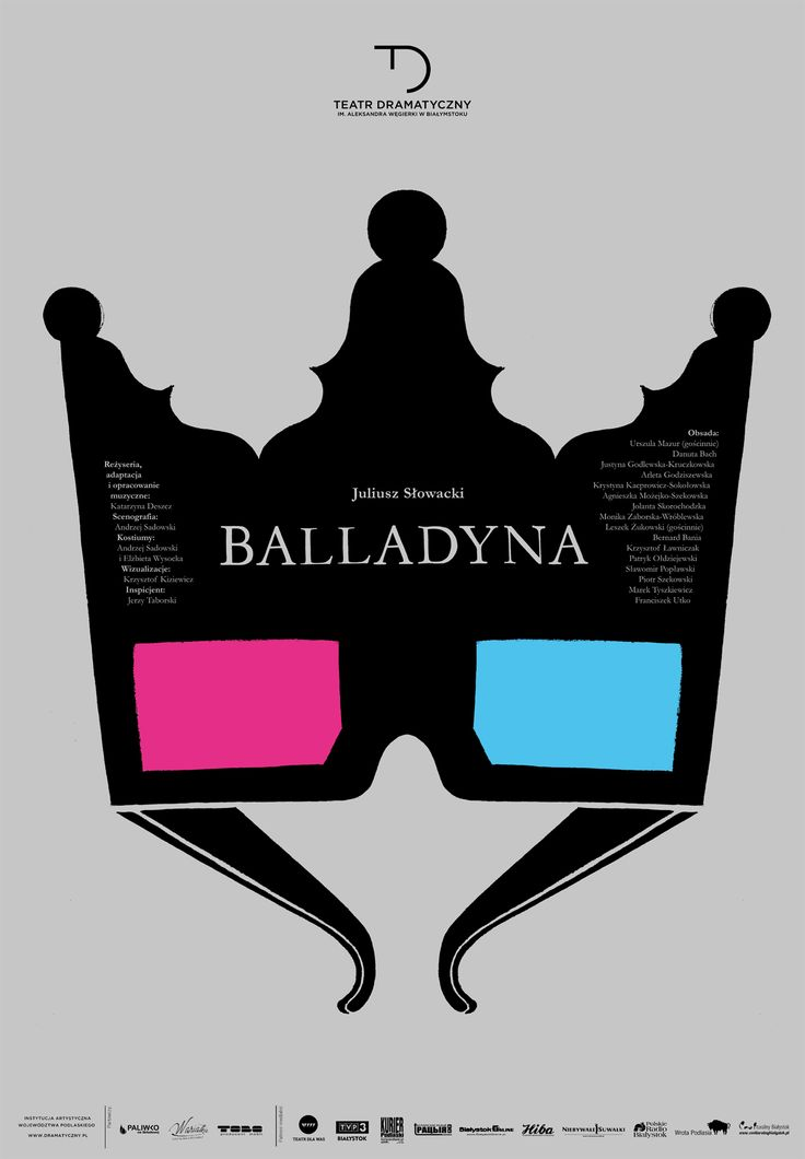 """""""Balladyna"""" Juliusz Słowacki, reż. Katarzyna Deszcz, autorzy plakatu: Agnieszka Popek-Banach i Kamil Banach"""