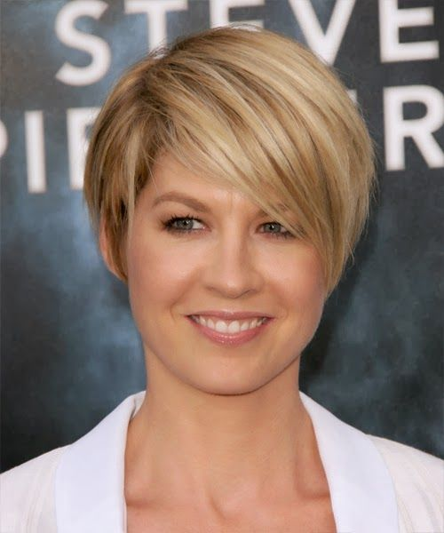 Popular Hairstyles: Jenna Elfman Hairstyle - Casual Short Straight