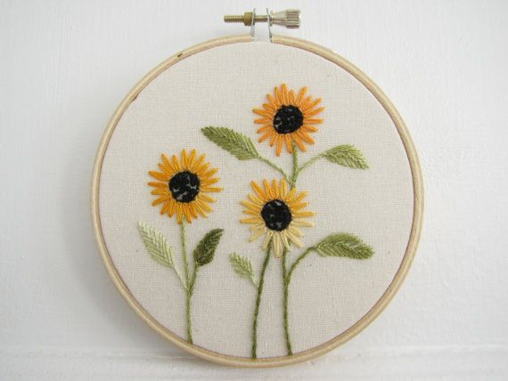 17 Best Images About Sunflower Embroidery Patterns On
