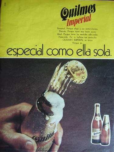 Publicidad Gráfica Cerveza Quilmes Imperial Año 1975 - Argentina