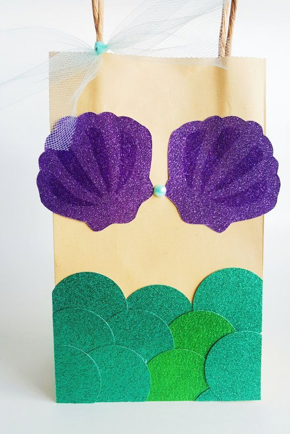 Mermaid Party Favor Bags by WTPAPartyDesigns on Etsy
