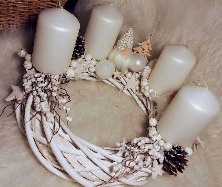 #advent #christmas  #wreath #white #diy #handmade
