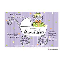 118 best baby girl baby shower invitations images on pinterest girl baby shower invitations gift buggy purple filmwisefo Choice Image