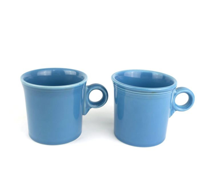 Blue Coffee Mugs Fiestaware Homer Laughlin China Set Of Two #Fiestaware