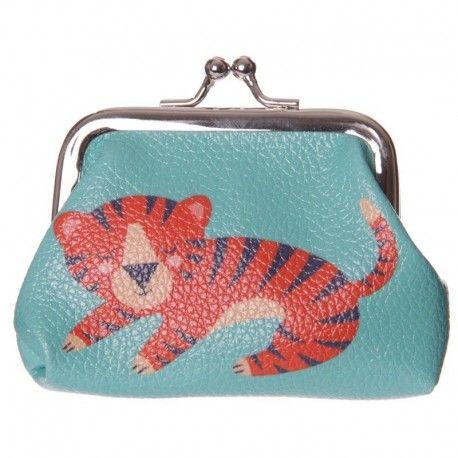 Porte monnaie collection animaux du zoo - Tigre