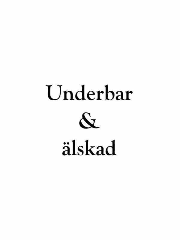 Väggtext - Underbar & Älskad, passande till barnrummet.